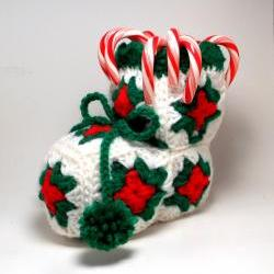 Christmas Decoration Crocheted Candy Stocking
